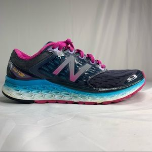 Size 9.5 - New Balance 1080v8 Blue Pink Running Shoes Sneakers